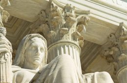Statue of Justice at U.S. Supreme Court