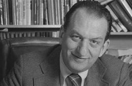 Black and white photo of George Olah