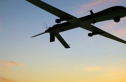 Photo of an Unmanned Aerial Vehicle in the sky