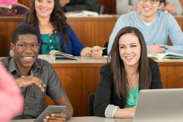 Students listening to a lecturer