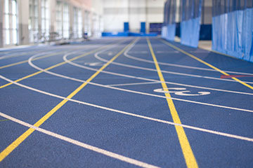 Close up on Veale Center track