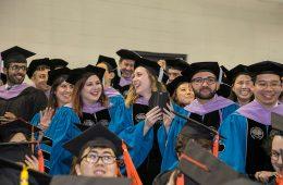 Photo of 2017 graduates smiling