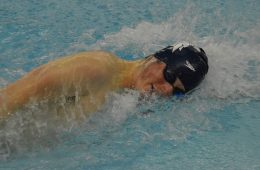 Photo of Andrew Henning swimming