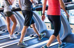 Exercising at a gym