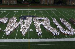 Class of 2021 spells out CWRU on football field