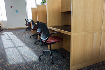 Photo of graduate student study carrels