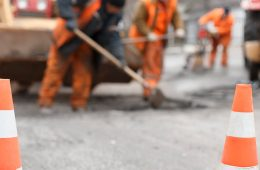 roadwork and construction workers