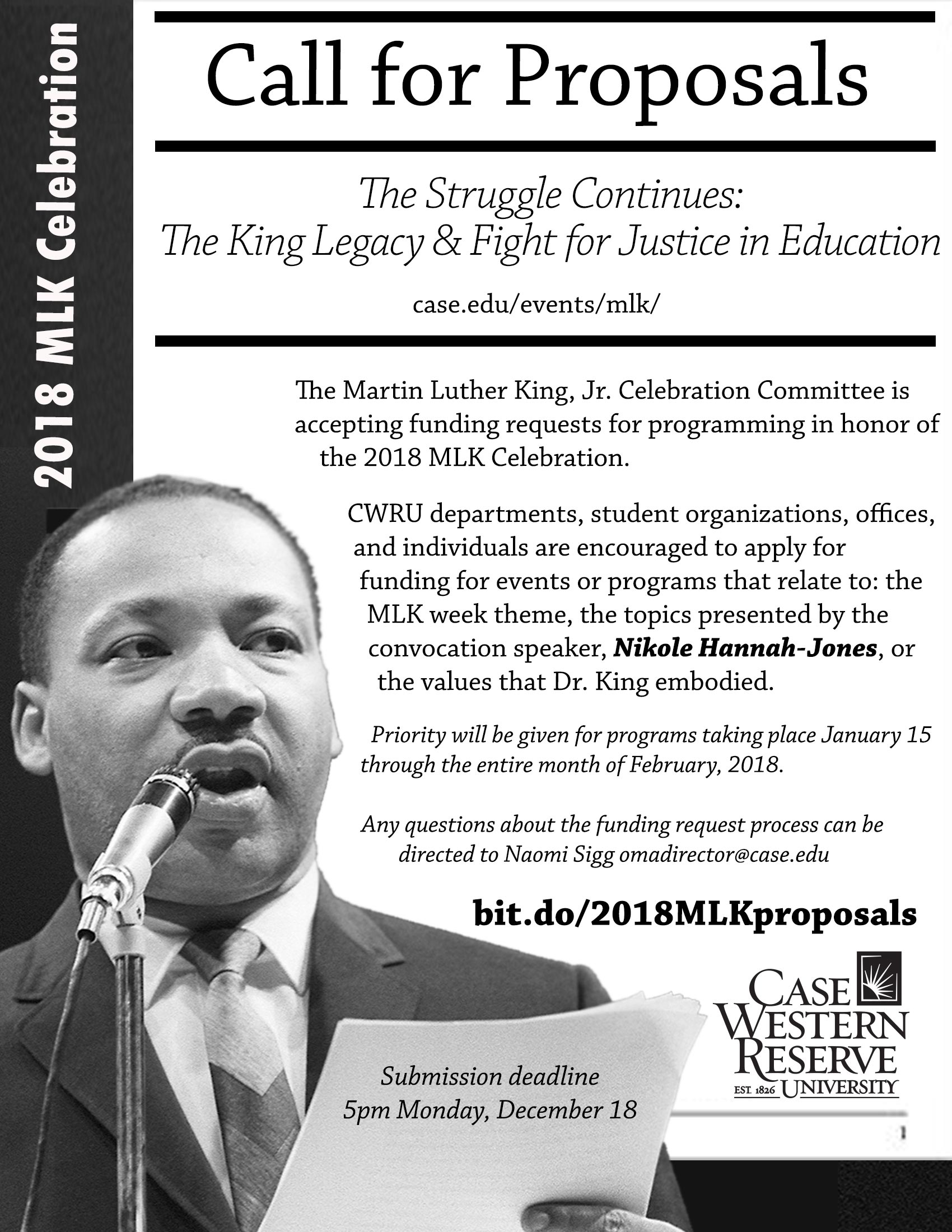 Call for proposals for MLK Celebration Week The Daily