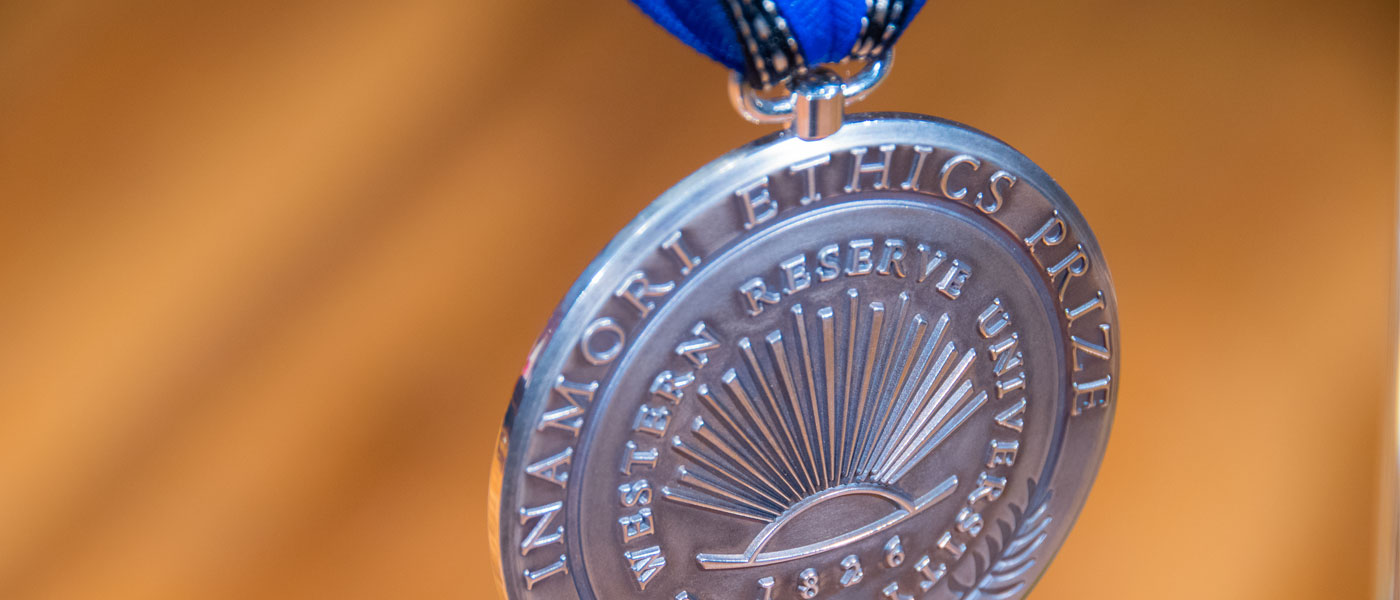 Photo of Inamori Ethics Prize medal