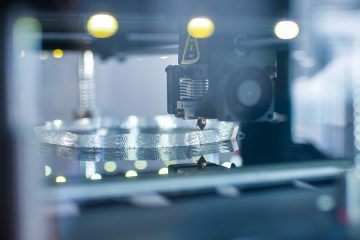 Close-up photo on a 3-d printer