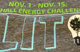 Design on the Residence Hall Energy Challenge T-shirt