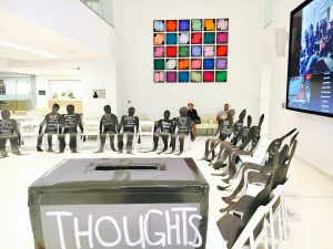 Photo from the Installation 1: Race and Policing exhibit