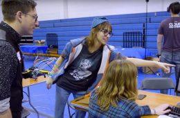 Students demonstrate their hackCWRU innovation