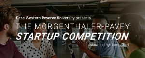 Morgenthaler-Pavey Startup Competition text over image of a business meeting