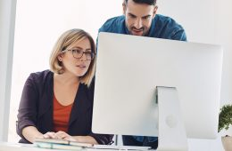 person receiving technical help on computer