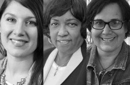 Photo compilation of headshots of Erin Henninger, Cynthia Hill-Graham and Elisabeth Roccoforte