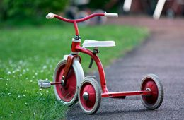 tricycle in the grass