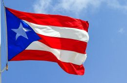 puerto rican flag on a flagpole