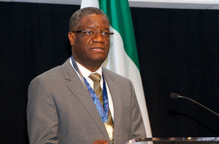 Denis Mukwege speaking at Case Western Reserve University