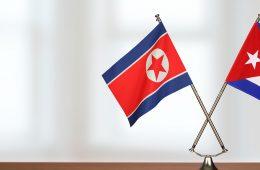 cuban and north korean flag