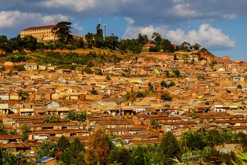 Photo showing buildings on the outskirts of Kampala, Uganda
