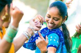 women bhangra dancing