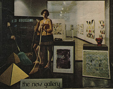 Photo from 1970 of Nina Sundell, one of MOCA's founders.