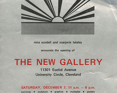 image of the flyer for moCa's opening night celebration
