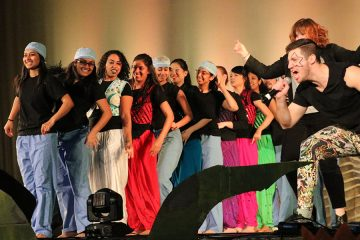 Photo of medical students performing on stage during Doc Opera