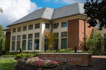 Exterior of the Linsalata Alumni Center