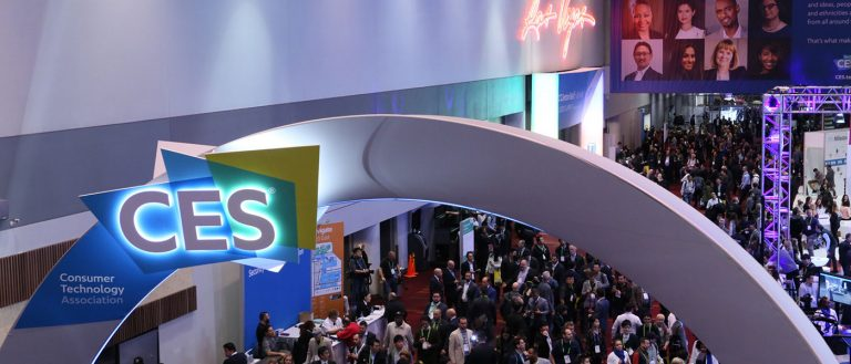 A view of the show floor at the 2018 CES show in Las Vegas