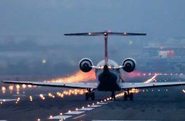 Photo of an airplane on the runway