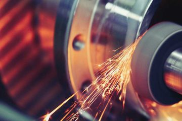 Photo of a machine finishing metal