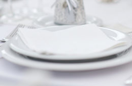 Photo showing a table place setting