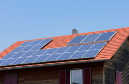 photo of home with rooftop solar panels