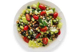 Photo of a Greek Salad from Sally the salad robot