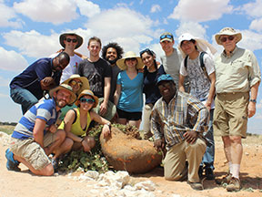 the group of researchers in namibia