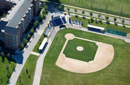 Aerial view of Nobby's Ballpark at Case Western Reserve University