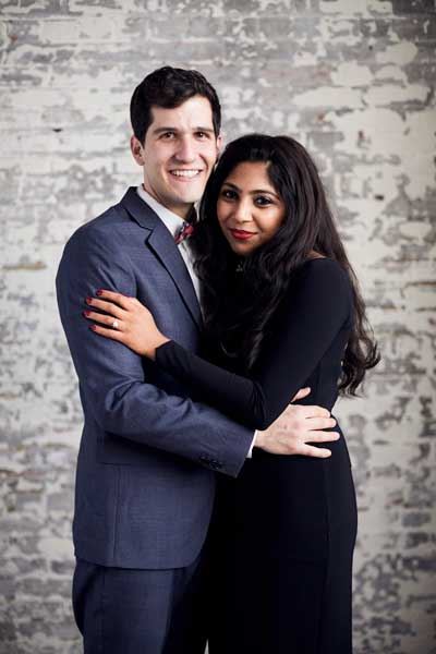 Case Western Reserve University medical students Max Feinstein and Pooja Rambhia