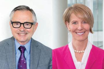 side by side headshots of Case Western Reserve University's Bruce Loessin Carol Moss