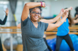 Photo of a women dancing in a fitness class