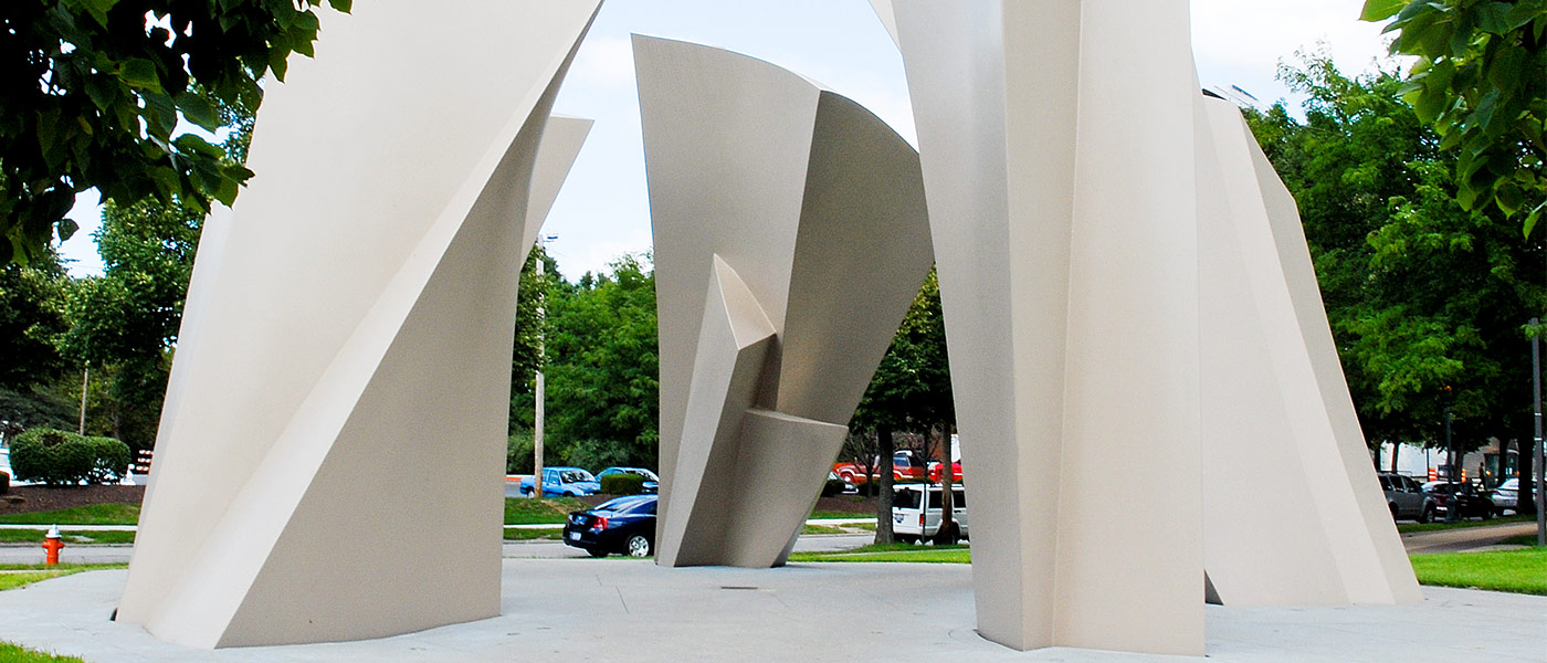 Photo of the Turning Point sculpture