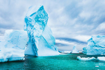 Photo of icebergs in Antarctica