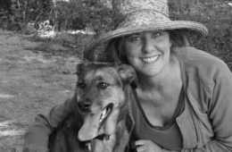 Photo of Sarah Gridley and her dog