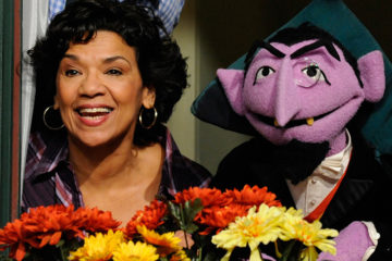 Sonia Manzano and Sesame Street character Count von Count
