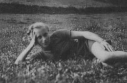 Photo of Marthe Cohn laying