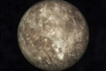Digital Illustration of Planet Mercury