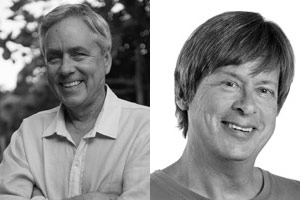 Photo compilation of photos of Carl Hiaasen and David Barry