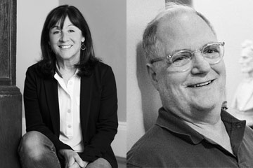Photo compilation of photos of Jane Mayer and Frank Rich