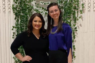 Photo of Kaitlyn Cantu and Christine Smothers